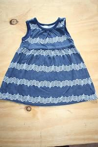 Navy Blue dress with signs of wash and wear