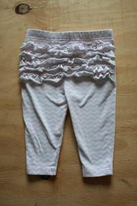 Pink and white Zig zap Pants with signs of was and Wear