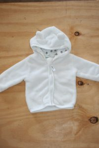 White warm Fleece Zip up top – Ackermans