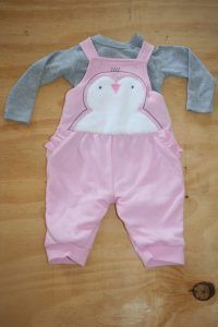 Pink and Grey Dungarees set