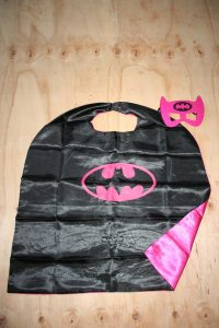 Bat Girl Cape and Mask Set