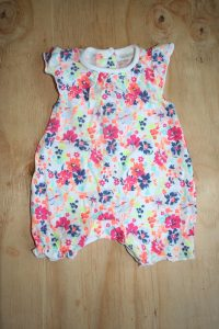 Pink print  Romper never worn -Next Baby Uk Brand