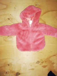 Girls Fluffy Jacket – 0-3 months as good as new